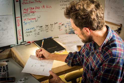 Pete Farmer designing